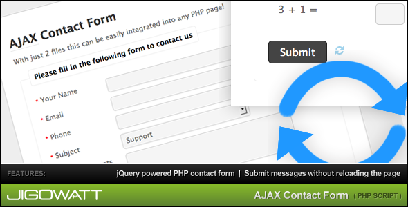 AJAX Contact Form by jigowatt | CodeCanyon