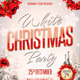 White Christmas Party Flyer plus FB Cover - GraphicRiver Item for Sale