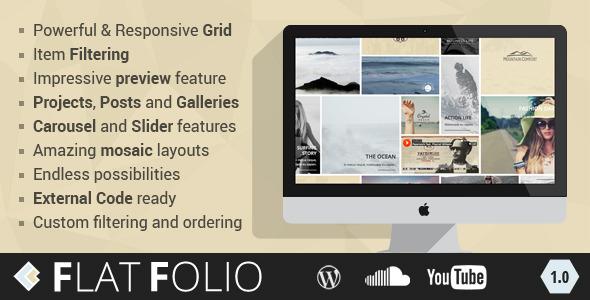 FlatFolio - Flat & Cool WP Portfolio - CodeCanyon Item for Sale