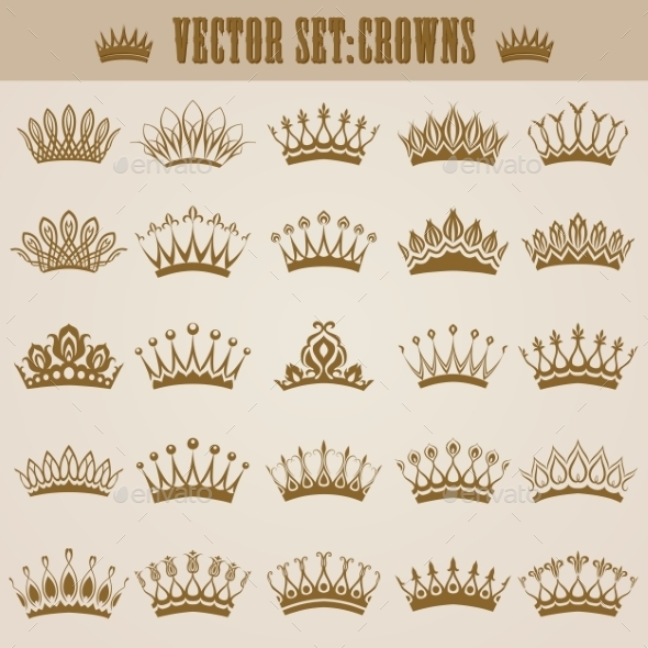 Victorian Crowns - Decorative Symbols Decorative