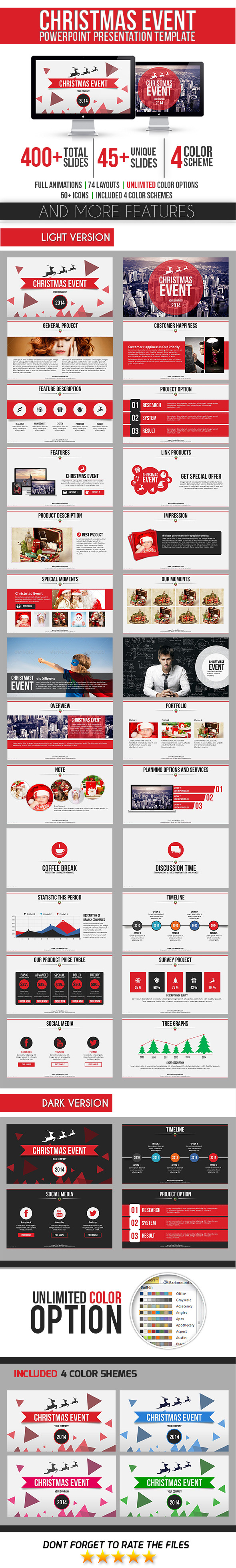 Christmas Event PowerPoint Template - Business PowerPoint Templates