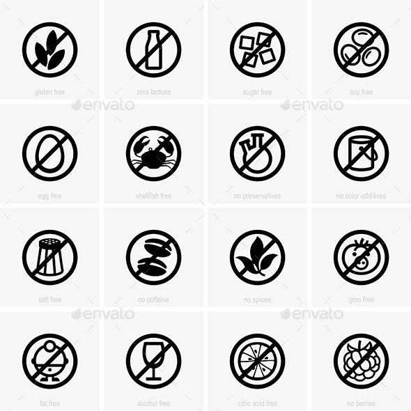Allergen Free Icons - Patterns Decorative