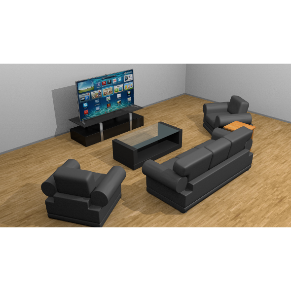Simple living room set - 3DOcean Item for Sale