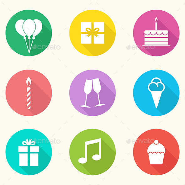 Birthday Icons - Vector - Miscellaneous Icons