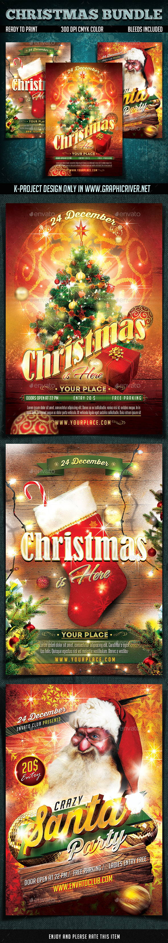Christmas Flyers Bundle - Holidays Events