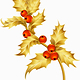 Gold holly - GraphicRiver Item for Sale