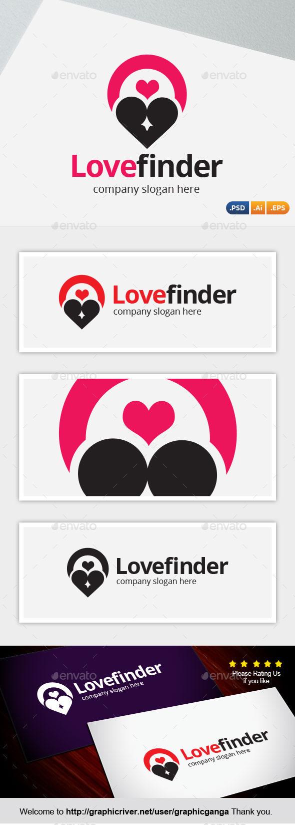 Love Finder - Symbols Logo Templates