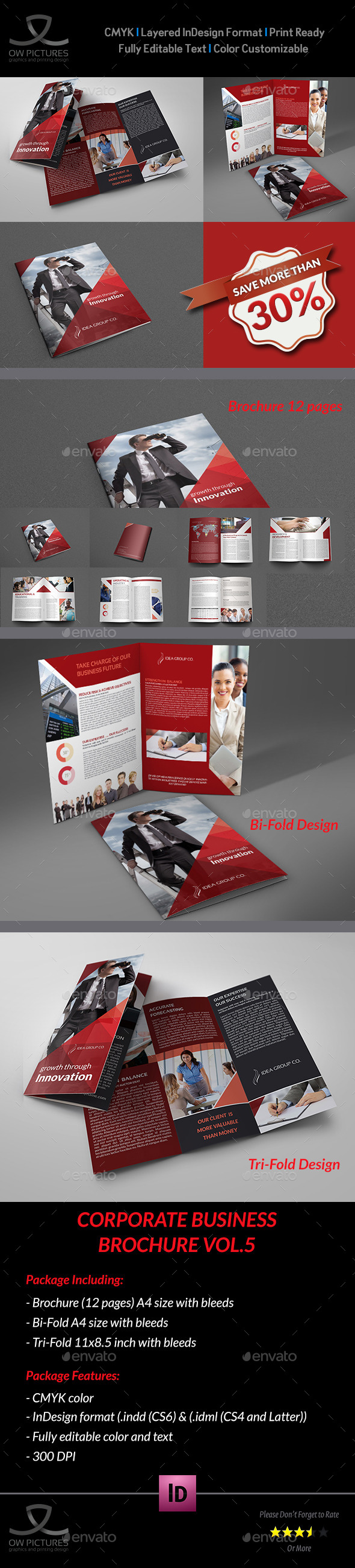 Company Brochure Bundle Vol.5 - Brochures Print Templates