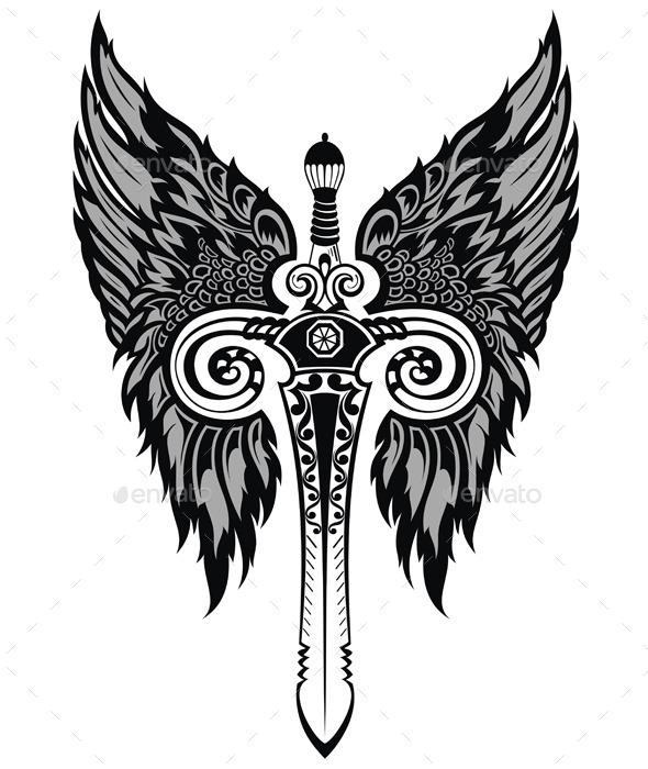 Sword - Backgrounds Decorative