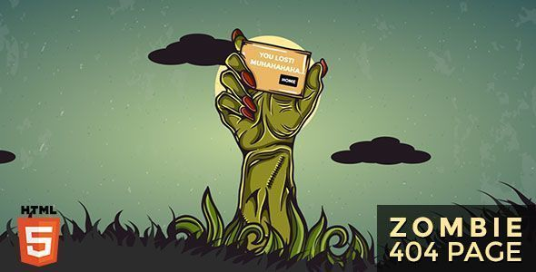 Zombie – Animated 404 Page