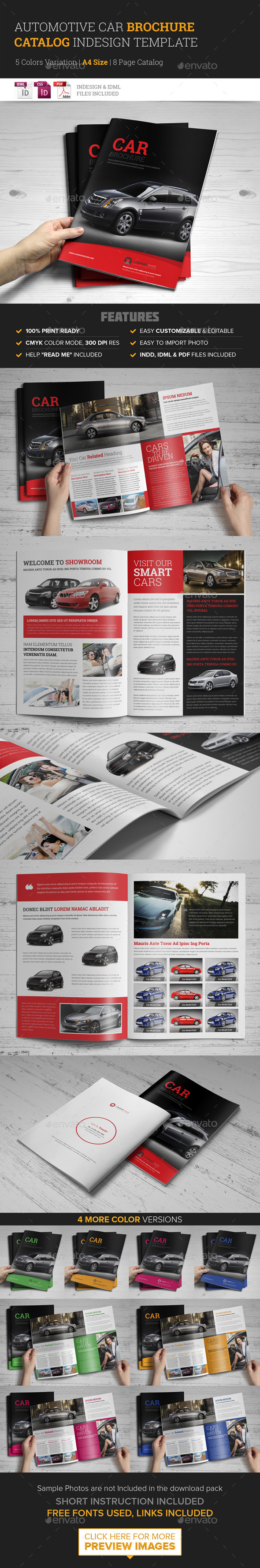 Automotive Car Brochure Catalog InDesign Template - Catalogs Brochures