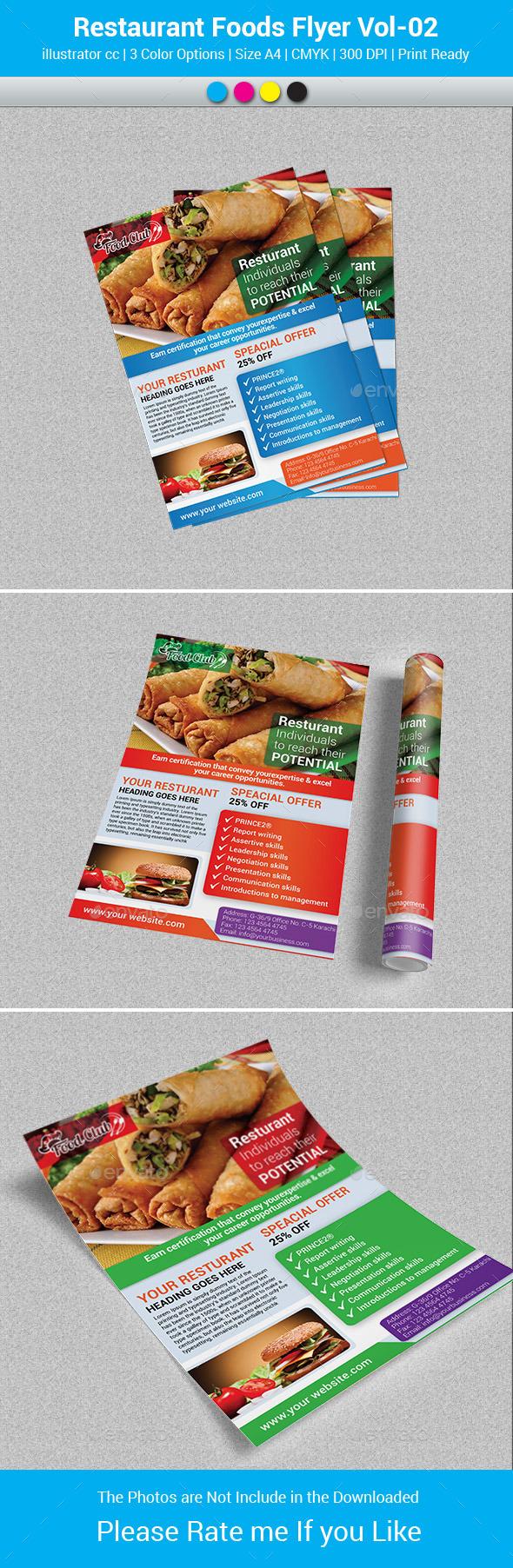 Restaurant Foods Flyer Vol-02 - Restaurant Flyers