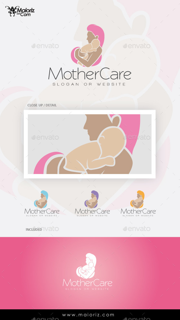 Mother Care Logo Template - Humans Logo Templates