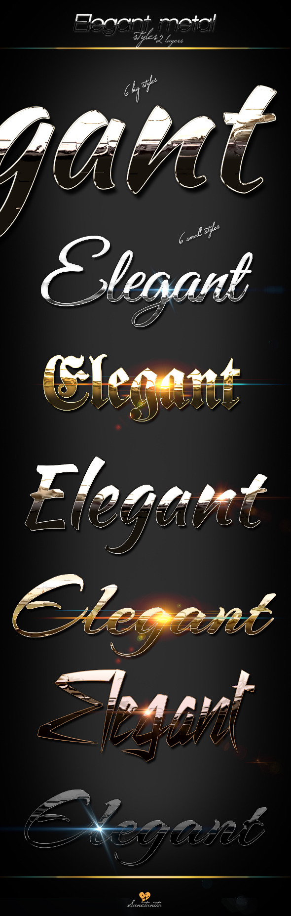 Elegant Metal Styles - Text Effects Styles