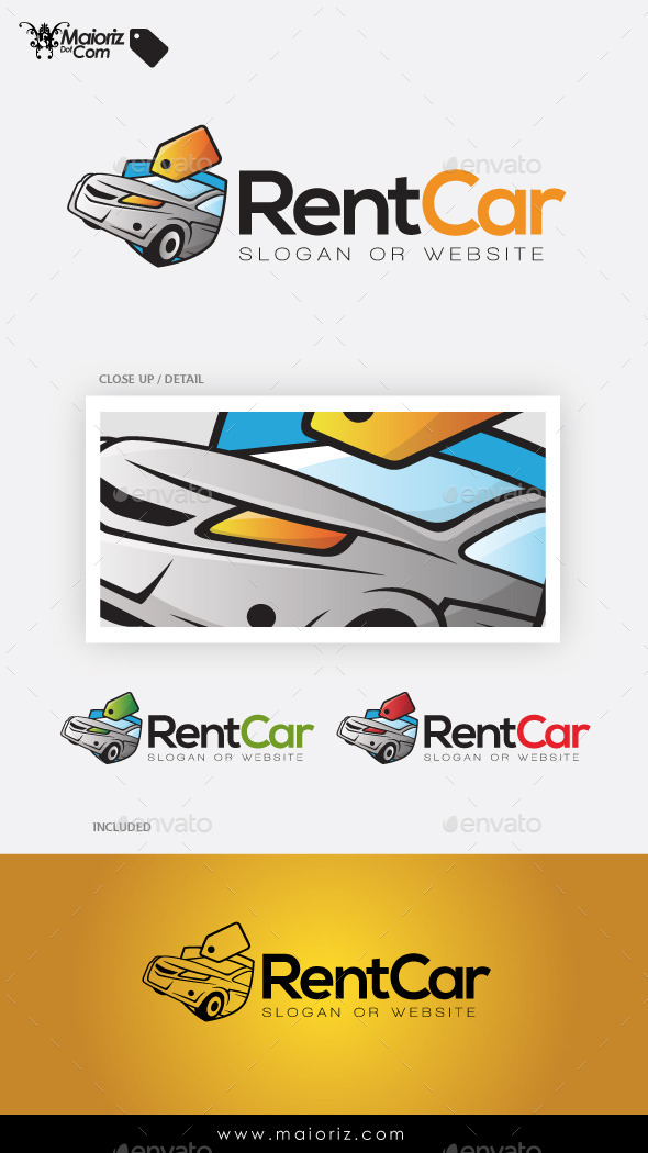 Rent Car Logo Template - Objects Logo Templates