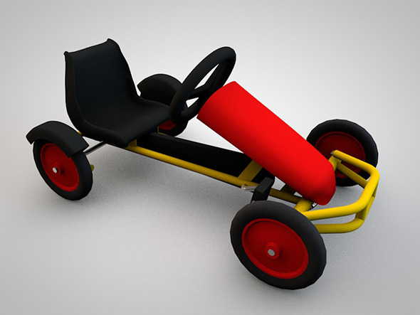 Kids pedal car - 3DOcean Item for Sale