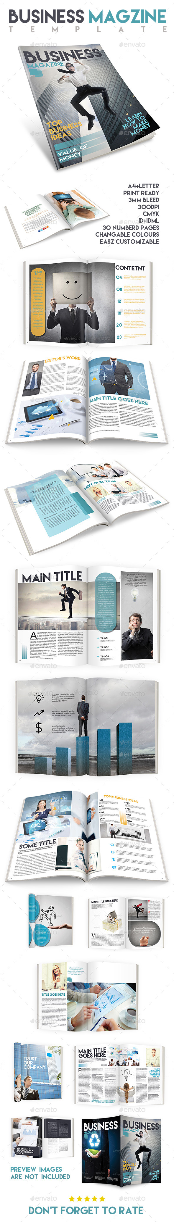 Business Magazine Template Issue Two - Magazines Print Templates