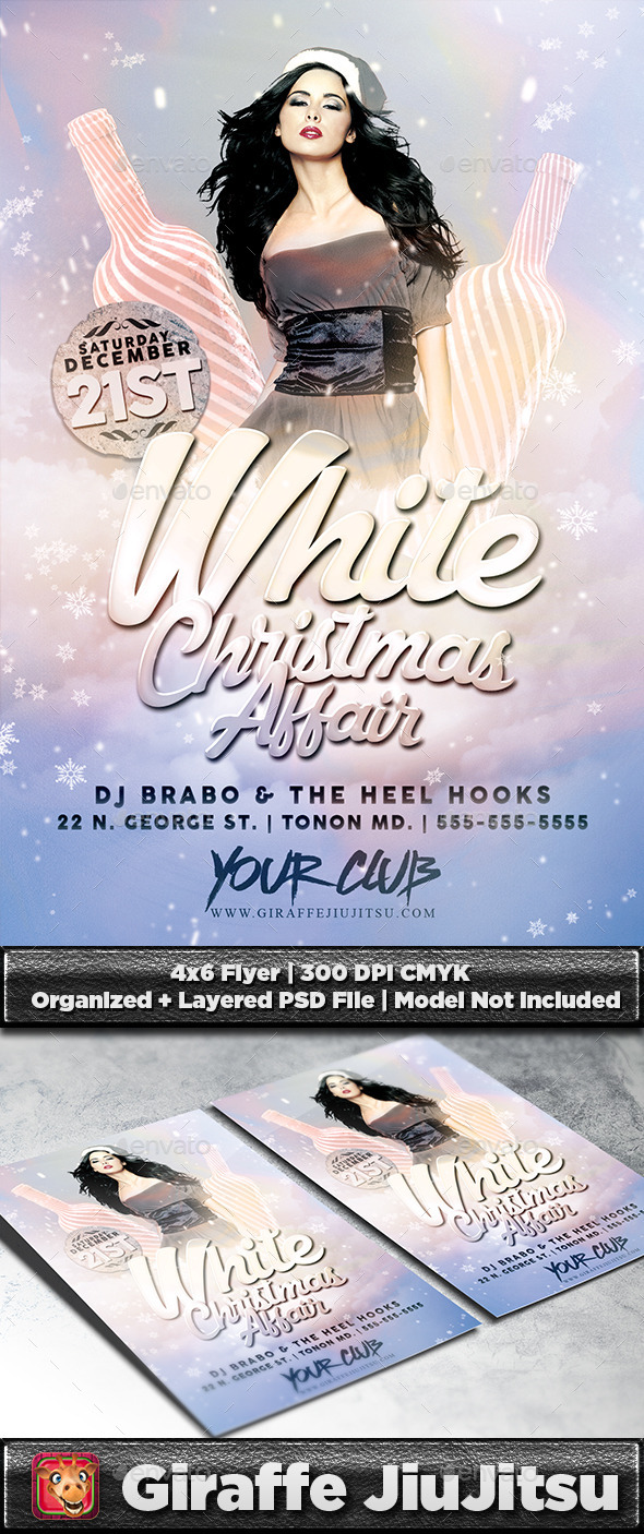 White Christmas Affair Flyer Template - Holidays Events