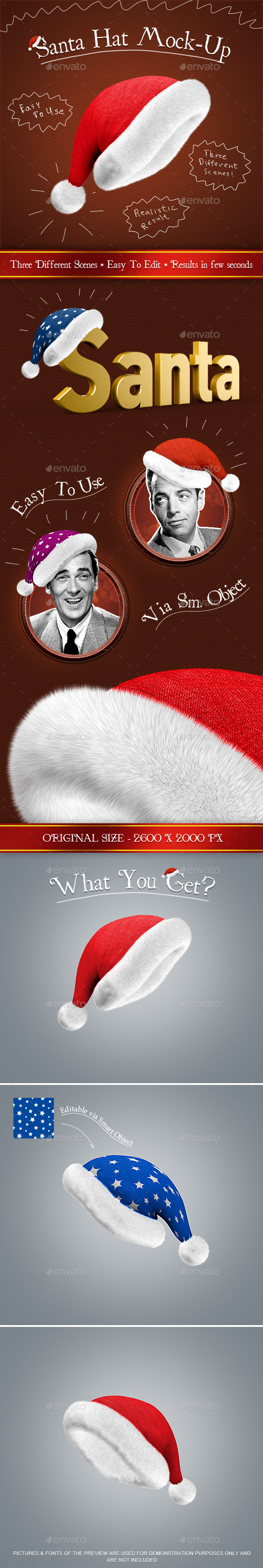 Santa Hat Mock-Up - Miscellaneous Product Mock-Ups