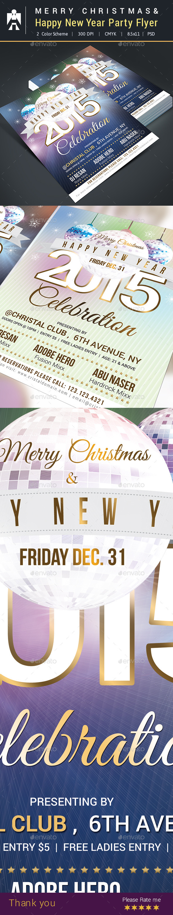 Happy New Year Party Flyer  - Clubs & Parties Events
