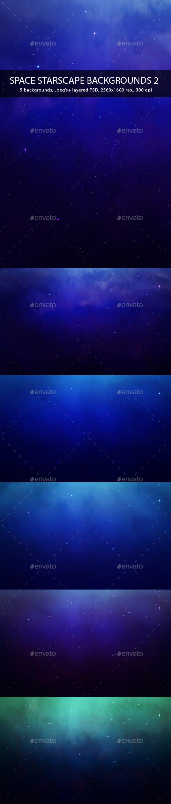 Space Starscape Backgrounds 2 - Tech / Futuristic Backgrounds