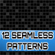 12 Seamless Black Patterns - GraphicRiver Item for Sale