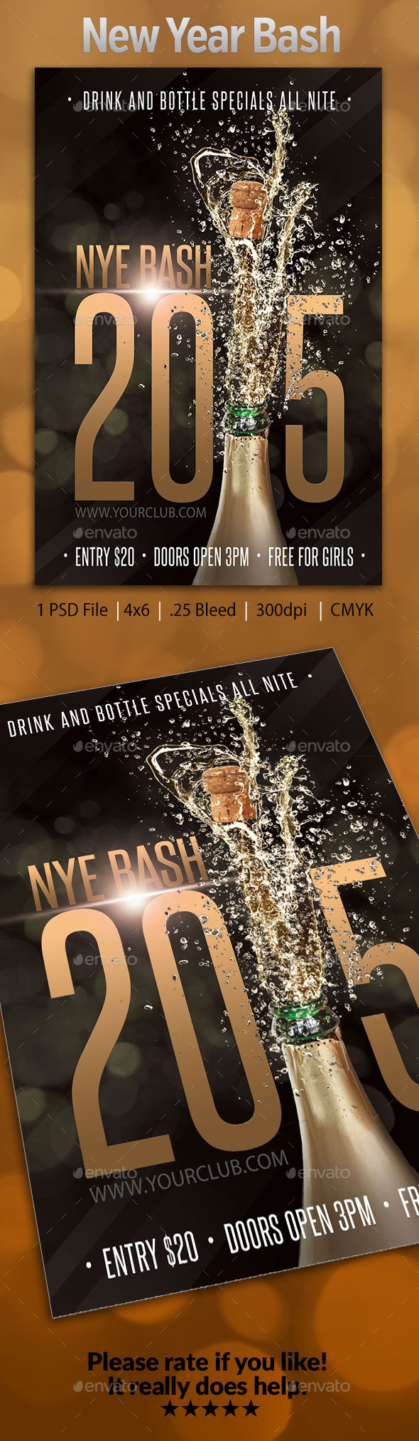 New Years Eve Bash Flyer 2 - Holidays Events