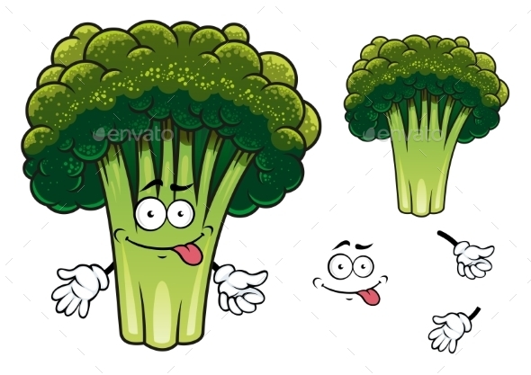 Cartoon Broccoli Character - Miscellaneous Characters
