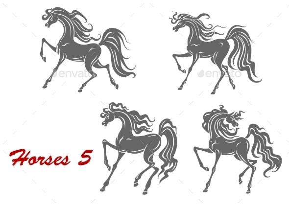 Gray Horses  - Animals Characters