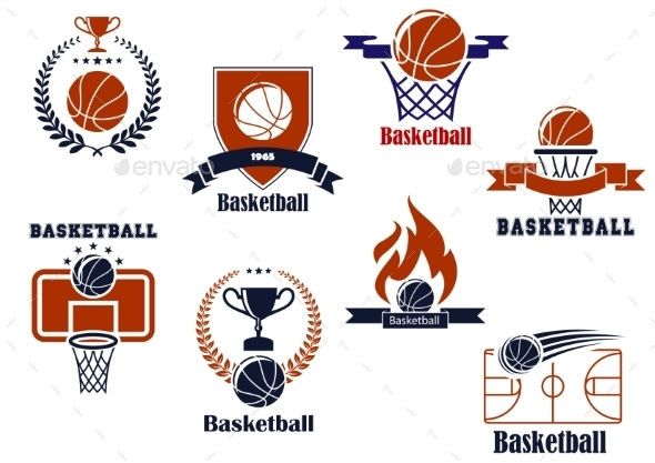 Basketball Tournament and Emblem Designs - Sports/Activity Conceptual