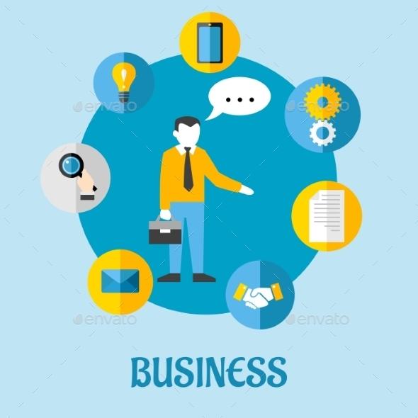 Business Flat Concept Design - Business Conceptual