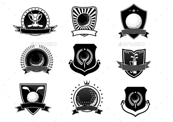 Golf Sports Emblems and Symbols Set - Sports/Activity Conceptual