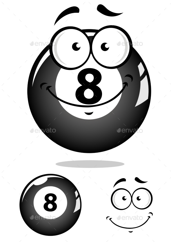 Eight Pool Ball Cartoon - Miscellaneous Characters