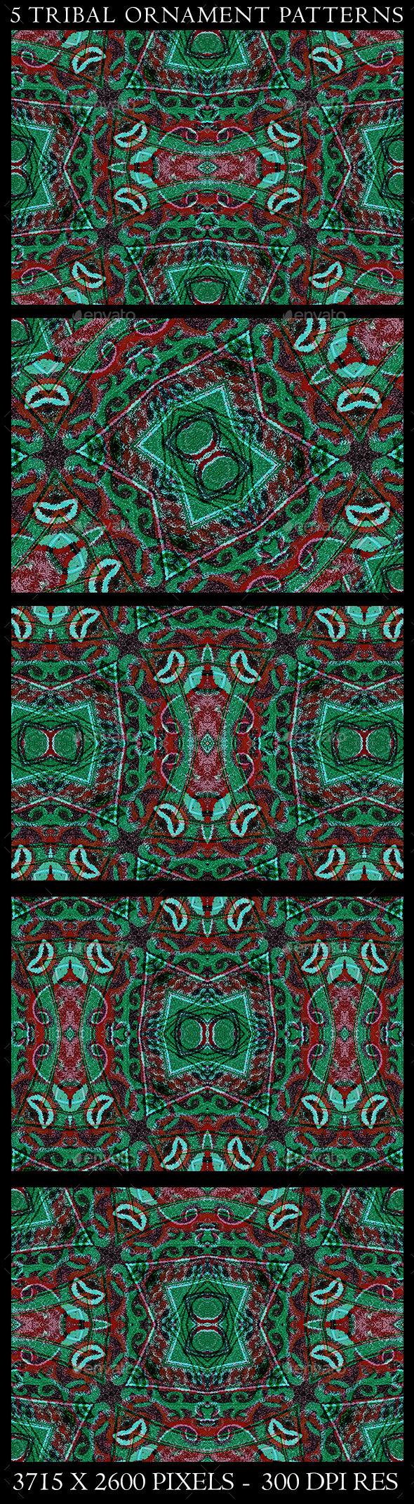 5 Tribal Ornament Patterns - Patterns Decorative