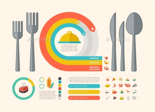 Food Infographic Elements. - Food Objects