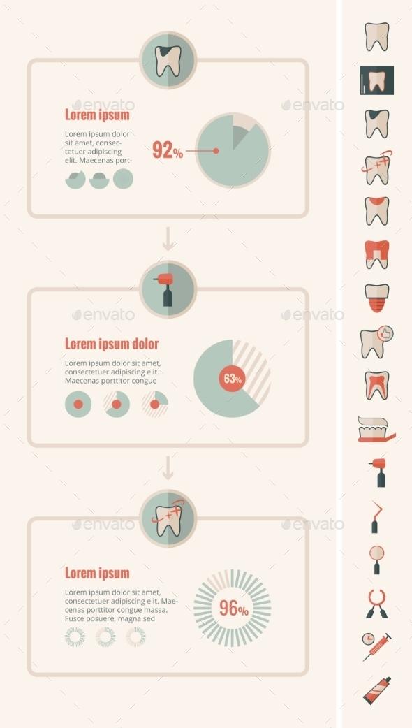 Dental Infographic Elements. - Health/Medicine Conceptual