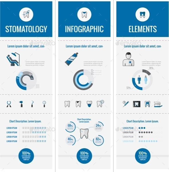 Dental Infographic Elements. - Health/Medicine Conceptual