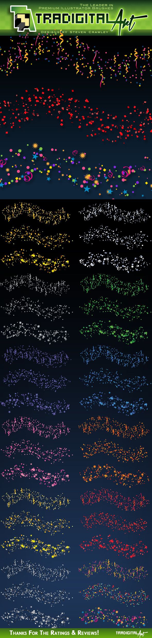 Confetti Brushes - Miscellaneous Brushes