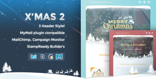X'mas 2 – Responsive Email Template