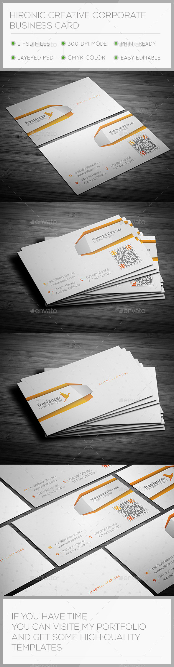 Hironic Creative Business Card - Creative Business Cards