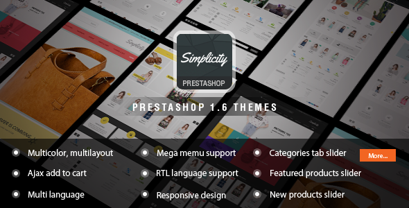 Simplicity – Responsive Prestashop Theme
