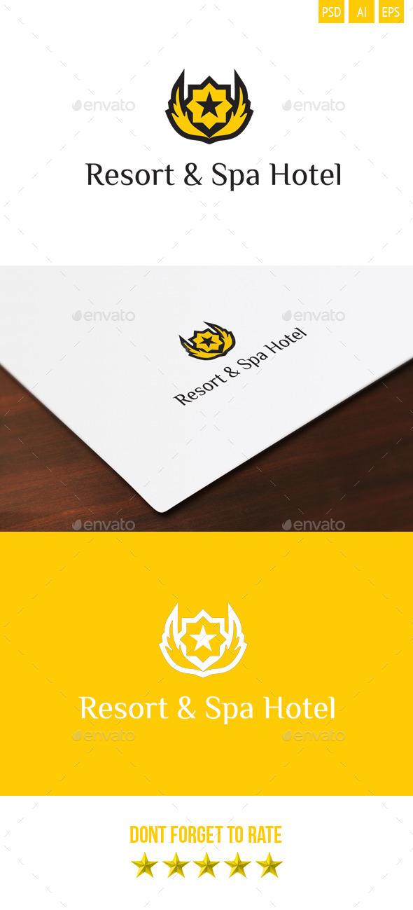 Resort & Spa Hotel Logo - Symbols Logo Templates