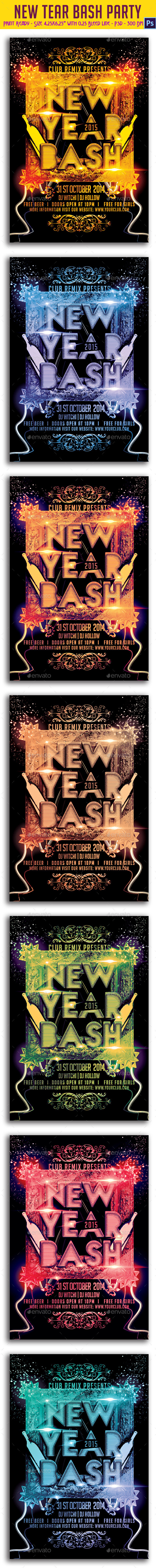 New Year Bash Party Flyer - Clubs & Parties Events