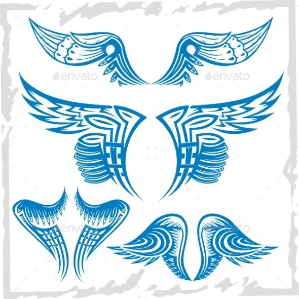Vector Wings Set - Tattoos Vectors