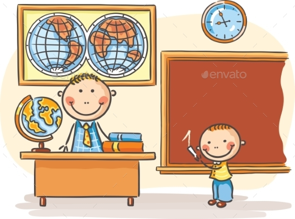 Teacher and a Pupil  - People Characters