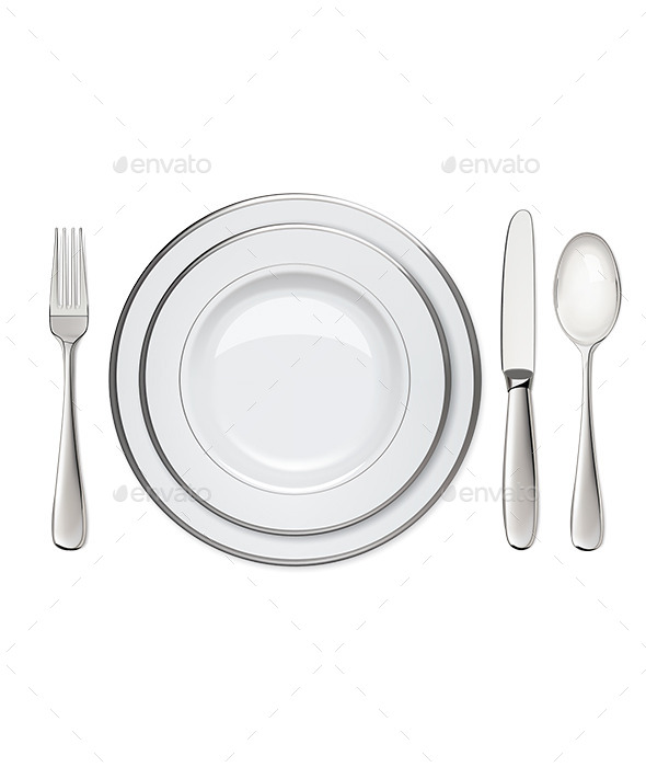 Empty Plates with Silver  - Man-made Objects Objects
