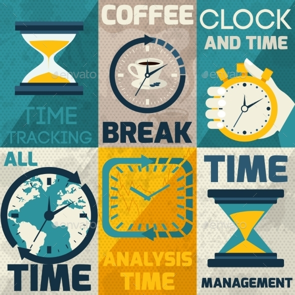 Time Management Poster - Concepts Business