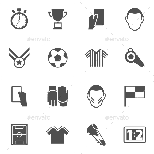Soccer icons black - Miscellaneous Icons
