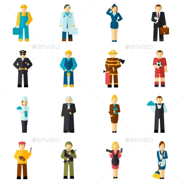 Avatar Profession Flat - People Characters