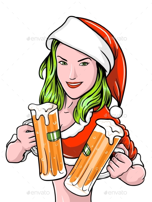 New Year Girl Beer - Christmas Seasons/Holidays